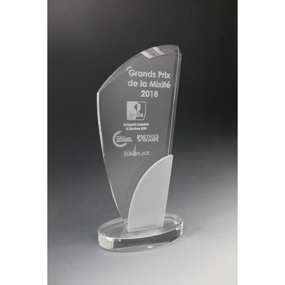trophée en verre Danone
