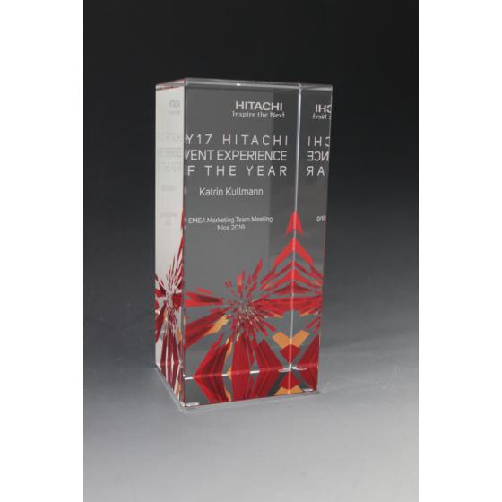 trophée verre personnalisé