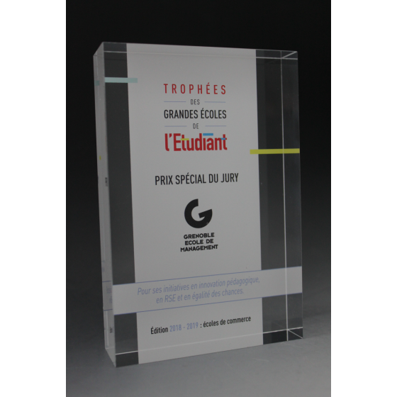 trophée acrylique tombstone imprimé