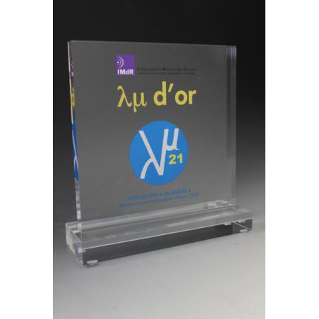trophée acrylique carré imprimé