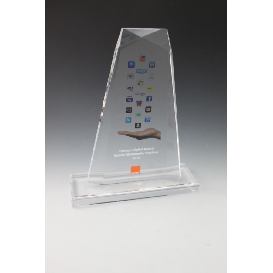 trophée plexiglass oblique
