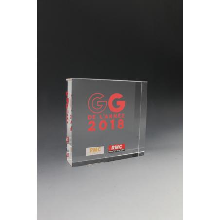 trophée verre carré les grandes gueules RMC