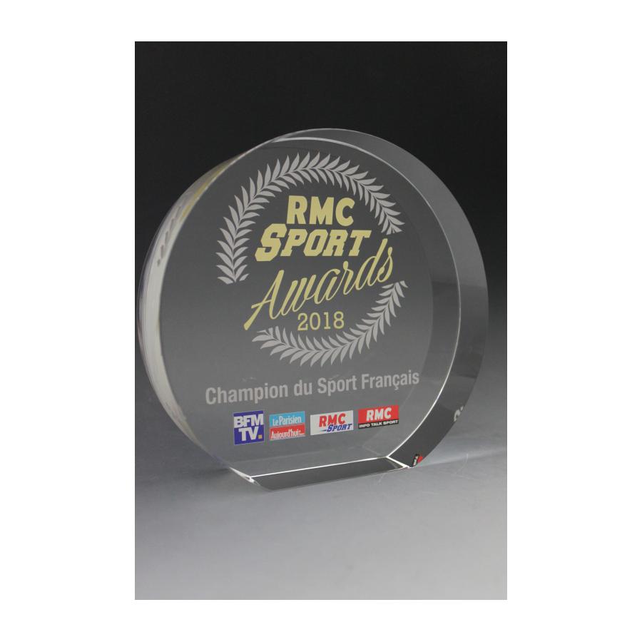 trophée verre rond 45mm tryje RMC