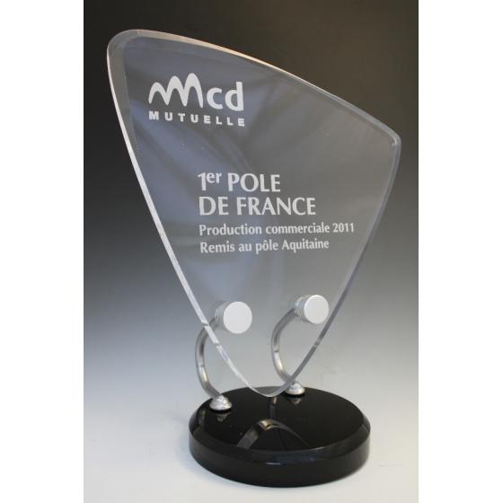 trophée plexiglass air