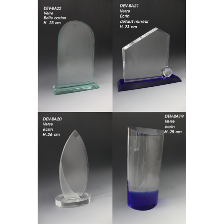 trophée en verre discount