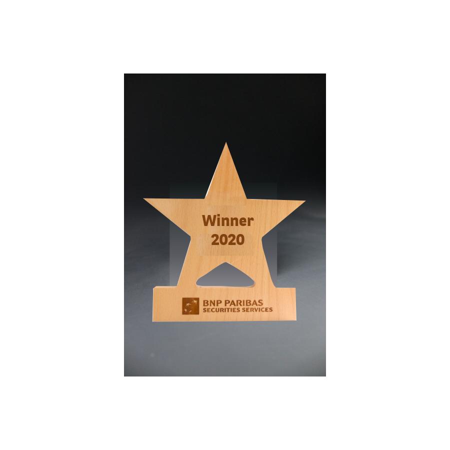 Trophée star wood