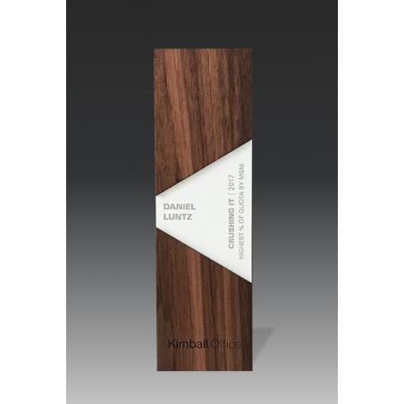 trophée en bois élégance