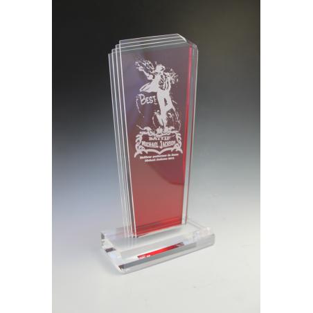 Trophée plexiglass PEAK ROUGE