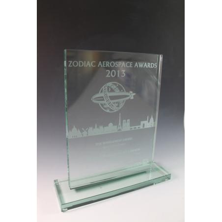trophée verre rectangle GM
