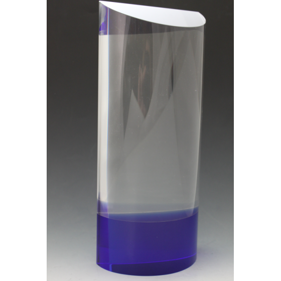 trophée verre bleu 3001