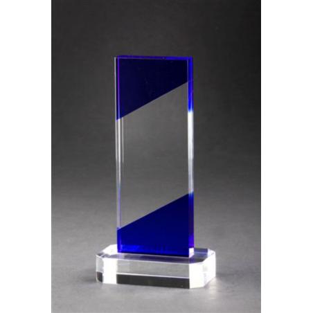 trophée verre BLEU 1179