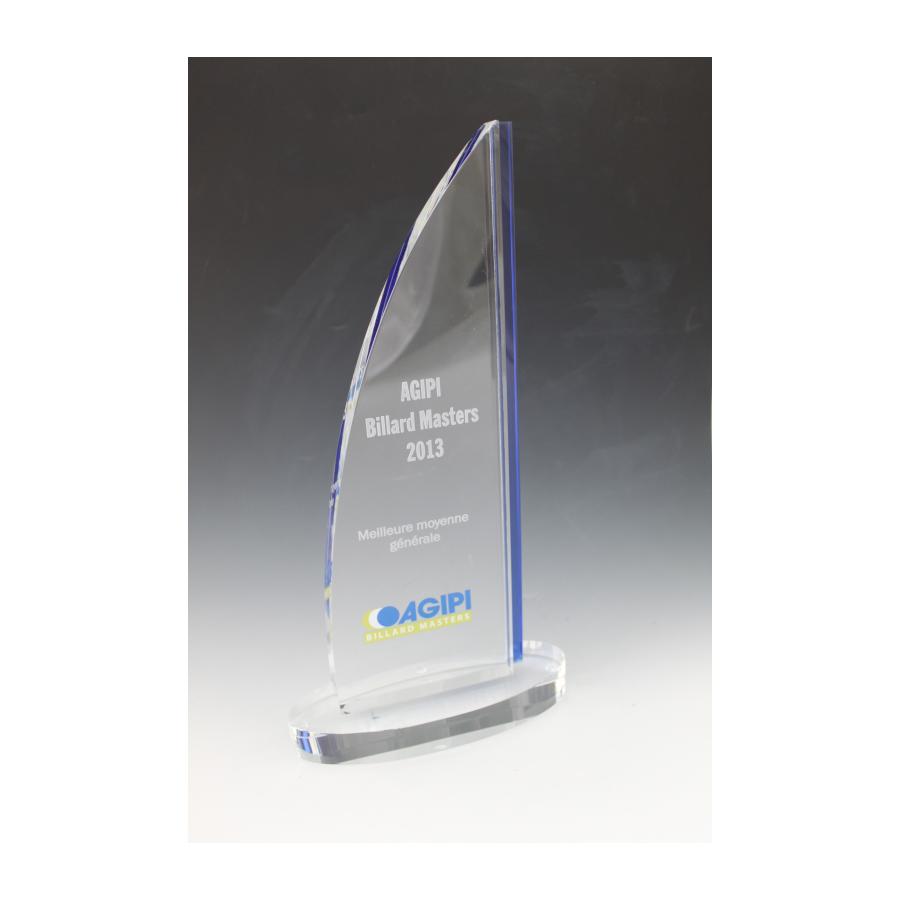 trophée verre bleu 7931