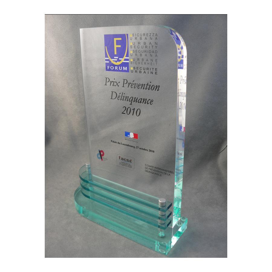 trophée plexiglass boat