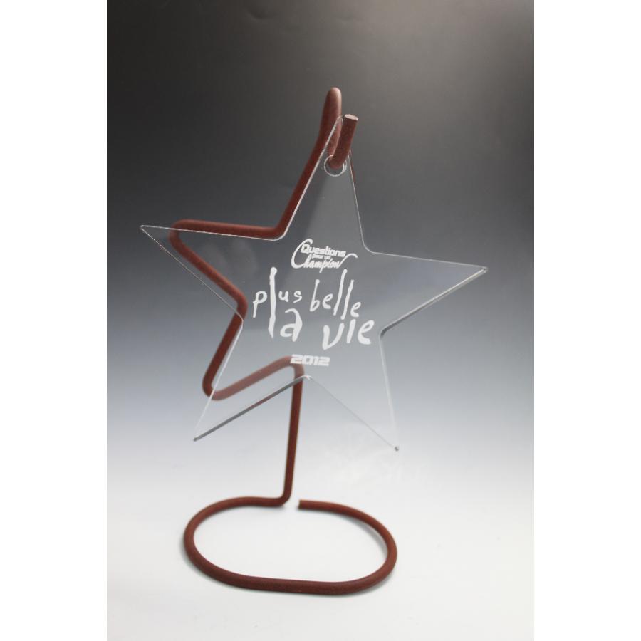 Trophée verre étoile suspendue