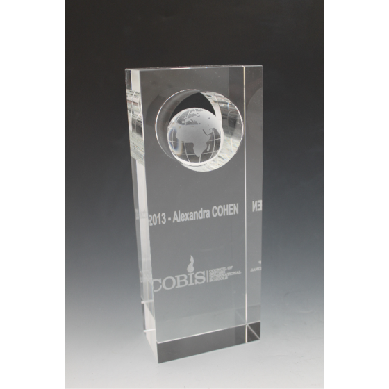 Trophée verre globe 4