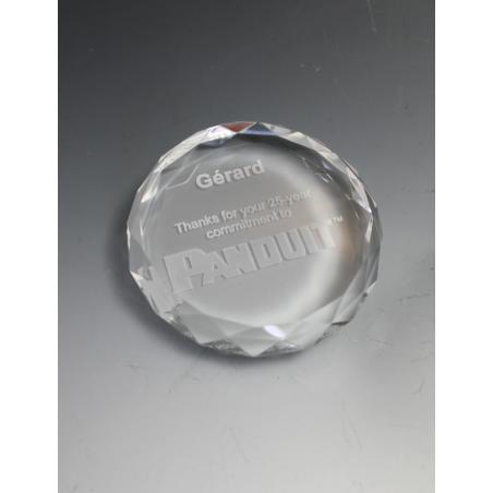 Presse papiers en verre diamant