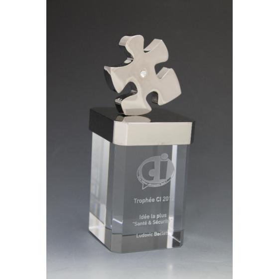 Trophée verre excellence puzzle