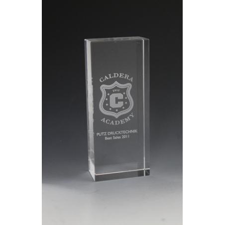 trophée verre 12X5X3
