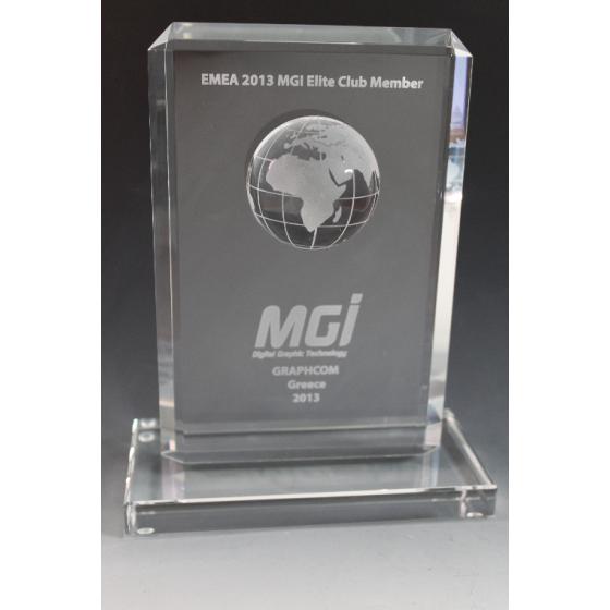Trophée verre globe 3