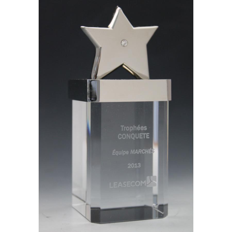 Trophée verre excellence étoile