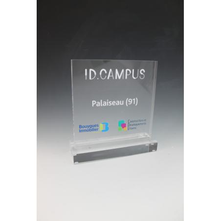Trophée plexiglass carré id campus