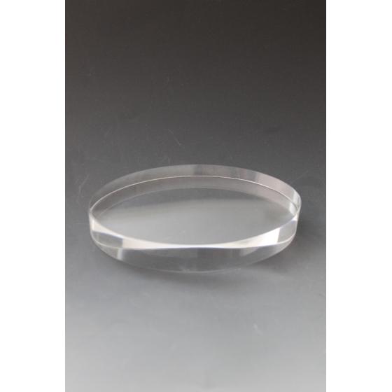 Presse papiers en verre ovale