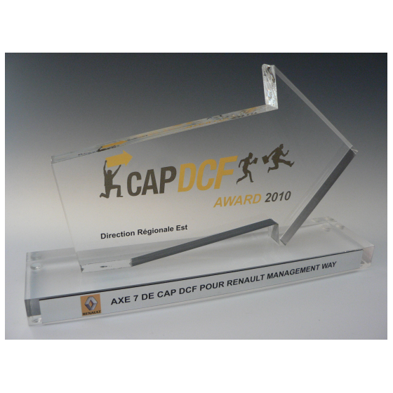 Trophée plexiglass progression