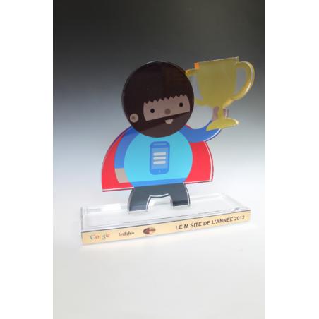 Trophées plexiglass sur mesure 10MM