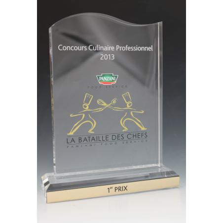 Trophée plexiglass vague II panzani