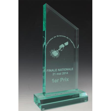 trophée en plexiglass peak jade tryje