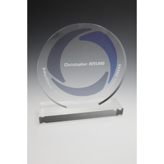 Trophée plexiglass rond 12