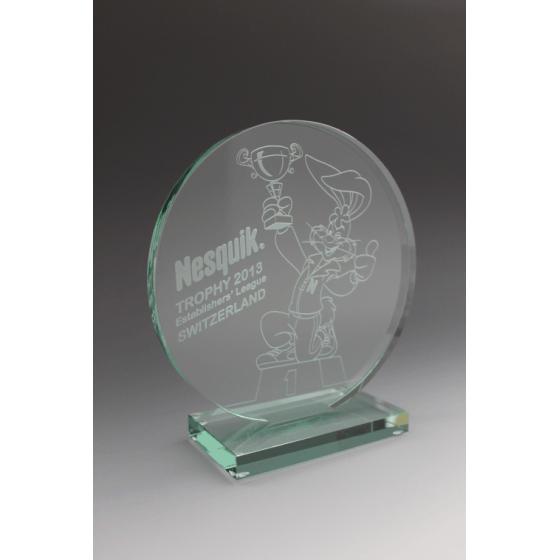 trophée nesquick en verre tryje