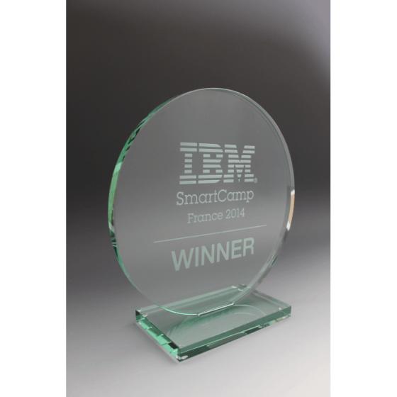 trophée IBM en verre tryje
