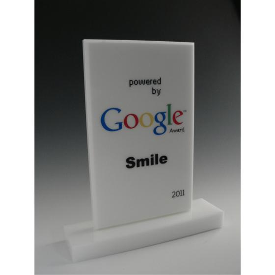trophée google blanc