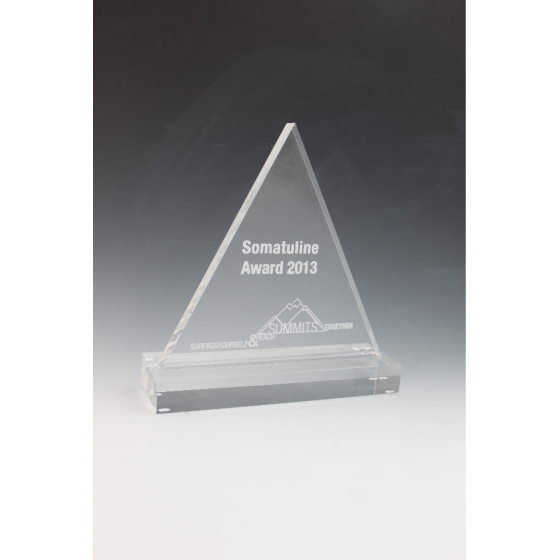 Trophée plexiglass triangle