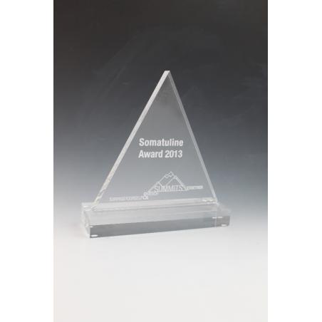 Trophée plexiglass triangle