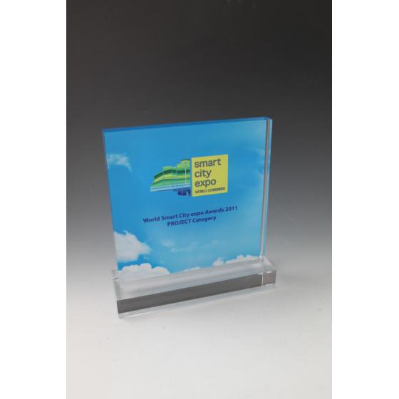 Trophée plexiglass carré