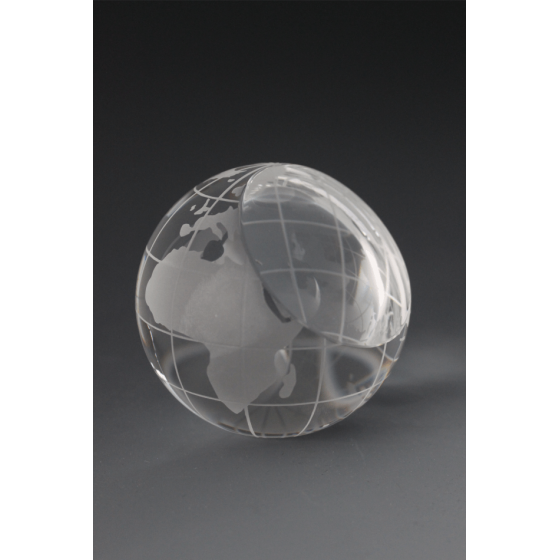 Presse papier verre globe 2