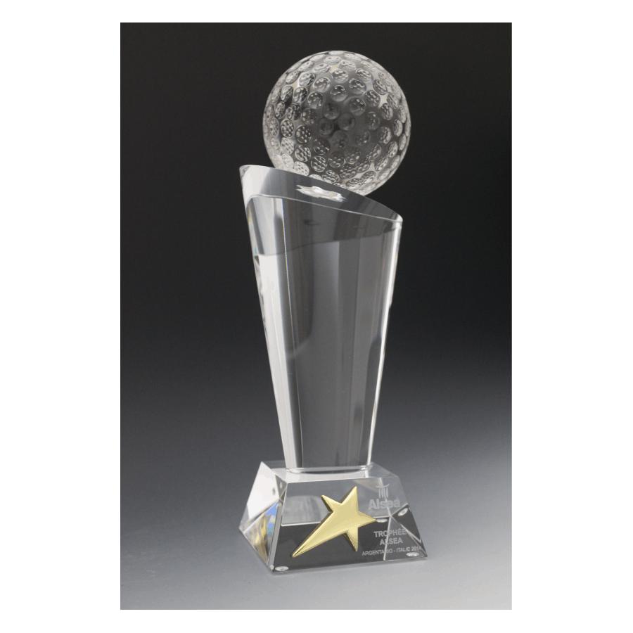 trophée en verre de golf alsea