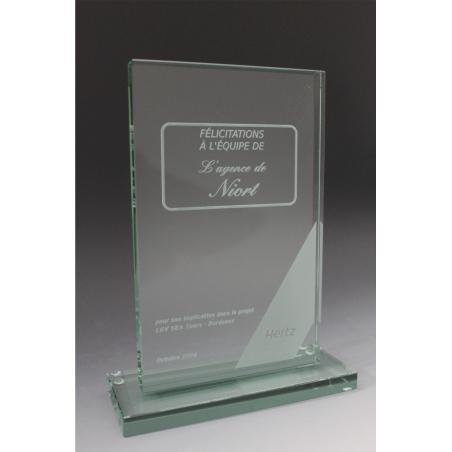 trophée en verre HERTZ par tryje