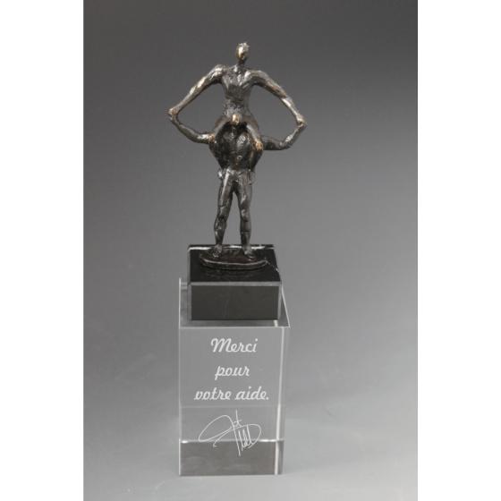 trophée en bronze entre aide tryje 2014