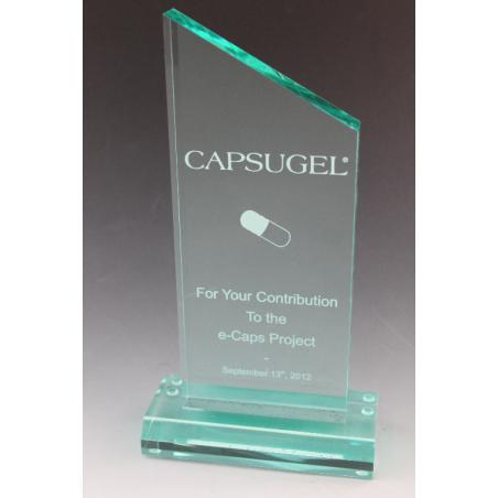 Trophée plexiglass peak jade