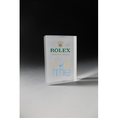 trophée en plexiglass bloc givré tryje 2014