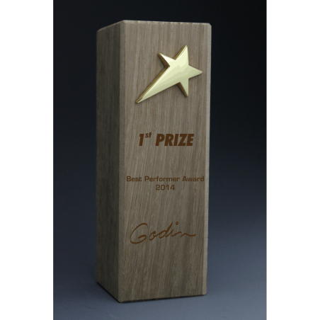 trophée bois totem étoile tryje 2014