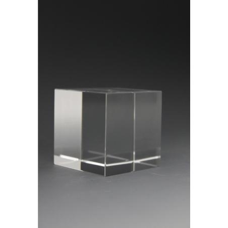 Trophée en verre Cube 6x6x6CM 2