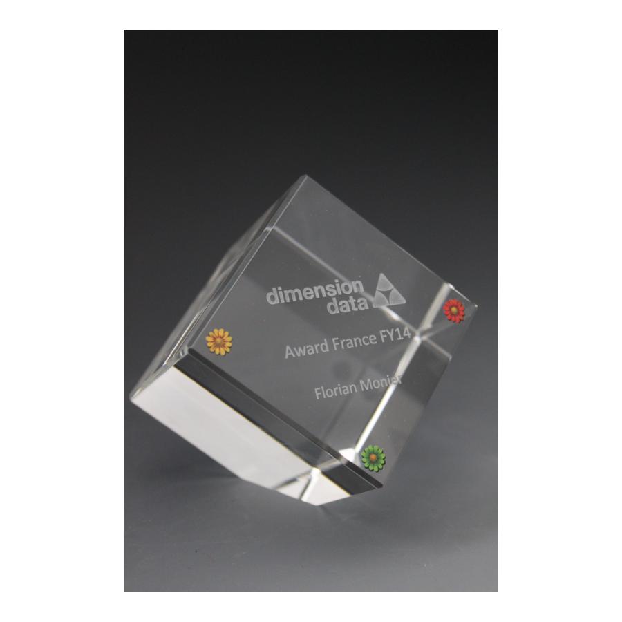 trophée cube en verre tryje 2015