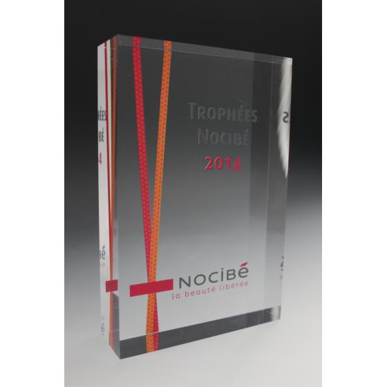 bloc trophée Nocibé plexiglass tryje 2015