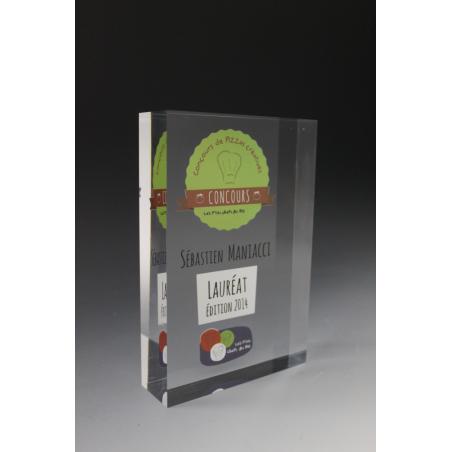 trophée bloc plexiglass les petits chefs du bio 2015 tryje