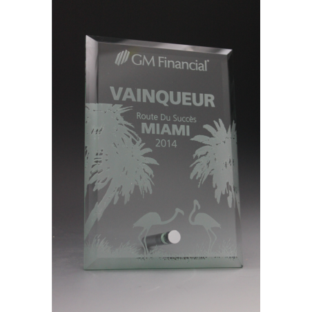 trophée verre GM financial 2015