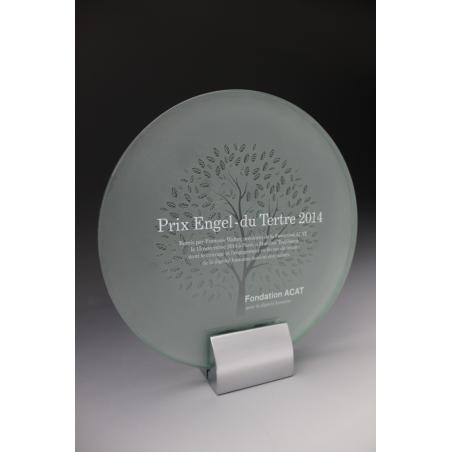 trophée en verre ROND LUXE tryje 2015